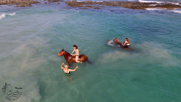Horse riding in the water at Pearly Beach South Africa