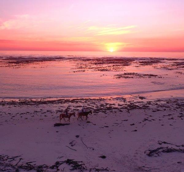 Sunset over Pearly Beach