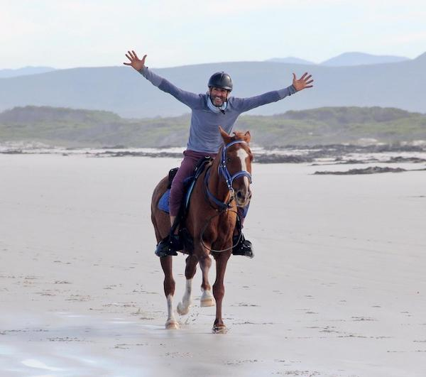 Horse riding on Pearly Beach