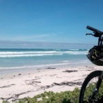 Mountain biking at Pearly Beach